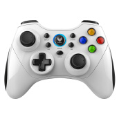 Game Controllerss & Steering Wheels-Rapoo V600S Wireless Vibration Gamepad Phone Handset Android / PC / Smart TV / PS3 King glory handle white on JD