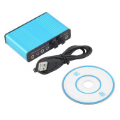 Sound Cards-USB 6 Channel 5.1 Audio External Optical Sound Card Adapter For PC Laptop Skype on JD