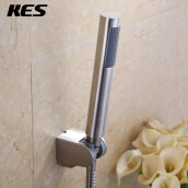 Kitchen Faucets Смесители для кухни-KES LP150-2 Bathroom Handheld Shower Head with Extra Long Hose and Bracket Holder, Brushed Stainless Steel on JD