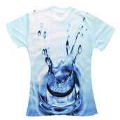 Tops-Men's Fashion New 3D Water Drop Pattern Graphic Print Short Sleeve T-Shirt on JD