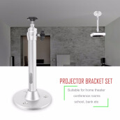 Projector bracket-Universal Mini Aluminium Alloy 360 Degree Rotation LCD DLP Projector Ceiling Wall Mount Metal Bracket Holder Stand on JD