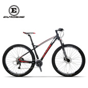 "Bikes-EUROBIKE 29"" Mountain BIKE Shimano M370 27 Speed Daul Disc Brakes Aluminium Frame Front Suspension Bicycle 29er MTB Black on JD"