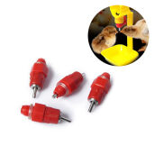 Pet Feeding-MyMei 5pcs Chicken Nipple Drinkers Waterer Poultry Feeder 360degree Screw on JD