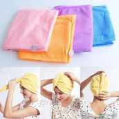 Blankets & Throws-Strong Water Absorption Magic Microfibre Hair Drying Wrap Towel Turban 261575 on JD