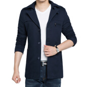 Suits & Sport Coats-Necini™ Man'S Spring jacket big yards thin section Korean Slim casual windbreaker jacket youth on JD
