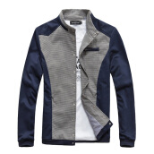 Jackets-Zogaa New Men's Jacket Color Matching Stand Collar on JD