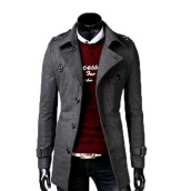 Cardigans-Zogaa New Men's Wool Coat Slim Fashion on JD