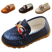 Boys Shoes-Kid Baby Toddler Boy moccasin Loafer soft Leather casual Oxford Boat peas Shoes on JD