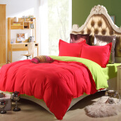 Bedding & Bath-Bed set Microfiber Duvet Cover Bed sheet Pillowcase Twin Full Queen Size on JD