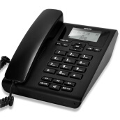 Network Products-Philips (PHILIPS) CORD108 corded telephone free battery / caller ID telephone / home landline / business office landline / hands-free telephone (black) on JD