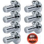 Kitchen Faucets Смесители для кухни-Larsd hot&cold water angle water valve 7 pieces in one set on JD