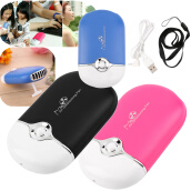 Fans-Rechargeable Portable Mini Handheld Air Conditioning Cooling Fan USB Cooler on JD