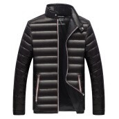Jackets Куртки-Antarctic men 's 90 white duck cashmere business standing collar warm down jacket Y1601 black XL on JD