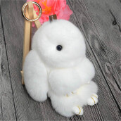 Jewelry Sets-MyMei 2016 New Rex Furs Rabbit Plush Toys Key Ring Keychain Pendant Bag Car Charm Tag Cute Mini Rabbit Toy Doll Real Fur Monster on JD
