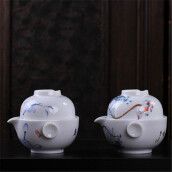 Coffee, Tea & Espresso-High Quality Chinese Porcelain Gongfu Tea Cup & Teapot Set on JD