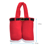 Handbags-3Pcs Cute Santa Pants Gift and Christmas Decorations Felt Treat Bags for Candy Weding 6.2*8.4inch 460202 on JD