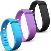 ID Bracelets-3 Pcs Large Size Replacement Silicon Wrist Band w/ Clasp for Fitbit Flex Bracelet 580244 on JD