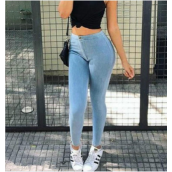 Women's Jeans-Women show thin skinny jeans female foot trousers new pencil pants 2016 summer leisure natural waist long pants on JD