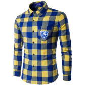 Casual Shirts-Mens Plaid Long Sleeved Shirt on JD