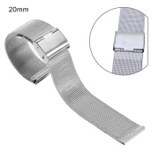 Watchbands-Fashion Mens Band Stainless Steel 20mm Wrist Watch Band Strap240152 on JD
