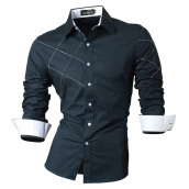 Casual Shirts-Men Cotton Long Sleeves Shirts on JD