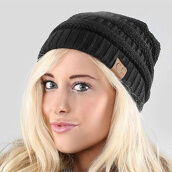 Skullies & Beanies-WISHCLUB Knit Hat Cap Men Women Winter Hat Skullies Beanies Unisex Headgear Warm Hat on JD