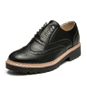 Loafers-Senma Senma casual shoes GD696392 British Bullock low-heeled casual shoes with a single shoes black 38 yards on JD