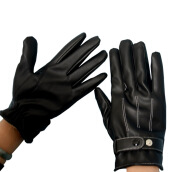 Hand Warmer-[Jingdong supermarket] set warm touch screen gloves men's cycling electric car / motorcycle winter warm plus velvet leather gloves black water wash on JD