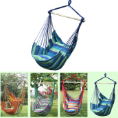 Swimming-MyMei  Canvas Hammock Hanging Rope Swing Chair Seat Hammock Bench Swinging Cushione on JD