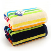Bedding & Bath-Golden Cotton Fresh and Fresh Rose Two Towels Gift Box 2185H Yellow on JD