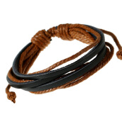 Traditional Necklace/Anklet-New Handmade Fashion Trendy Vintage Handmade Men Leather Bracelet For Women Jewelry Accessory on JD