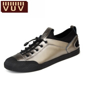 Men's Loafers & Slip-Ons-VUV2017 men's summer New Mens Casual black leather fashion shoes breathable comfort low shoes shoes trend of students on JD
