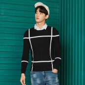 Cardigans-Semir sweater male 2017 fall fake two men Korean version of the trend of youth sweater shirt shirt 14316071228 gray blue tone M on JD