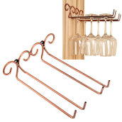 Bar Tools & Glasses-Wine Glass Rack, 2 Rows Stainless Steel Wall-Mounted Wine Glass Hanger For Bar Home on JD