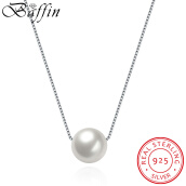 Choker Necklaces-Fashion 925 Sterling Silver Chain Jewelry Pearl Choker Necklace Women Wedding Party Accessories Best Gift on JD