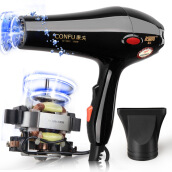 Hair Clippers & Trimmers Машинки для стрижки волос-Kangfu KF5843 Professioal Hair Drier 1800W High-power Cold And Hot Wind Black on JD
