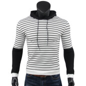 Sweatshirts-SHUYI Fall Men's Hot Striped Sweater Men's Hooded Long Sleeve Clothes Young Sleeve Tops on JD