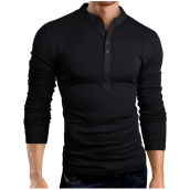 Long Sleeved Polos-Male 2017 Brand Long Sleeve Solid Color Fashion T Shirt V-Neck Slim Men T-Shirt Tops Fashion Mens Tee Shirt T Shirts XXXL on JD