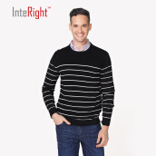 Cardigans-Interview cotton men 's horizontal round neck sweater on JD