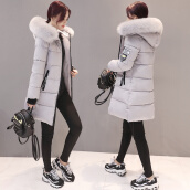 Down Jackets & Parkas-Slim cotton clothes In the long section of large size jacket Thick hair collar down jacket on JD