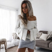 Shrugs-New Womens Oversized Loose Knitted Sweater Batwing Sleeve Tops Cardigan Outwear on JD