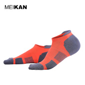 Sportswear Accessories-MEIKAN Running Socks Orange Terry Calcetines Ciclismo Meias Coolmax Compression Sport Socks Men Colorful Crew Cycling Socks on JD