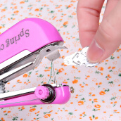 Sewing-Portable mini hand sewing machine Simple household multifunctional pocket hand and hand miniature tailoring machine on JD