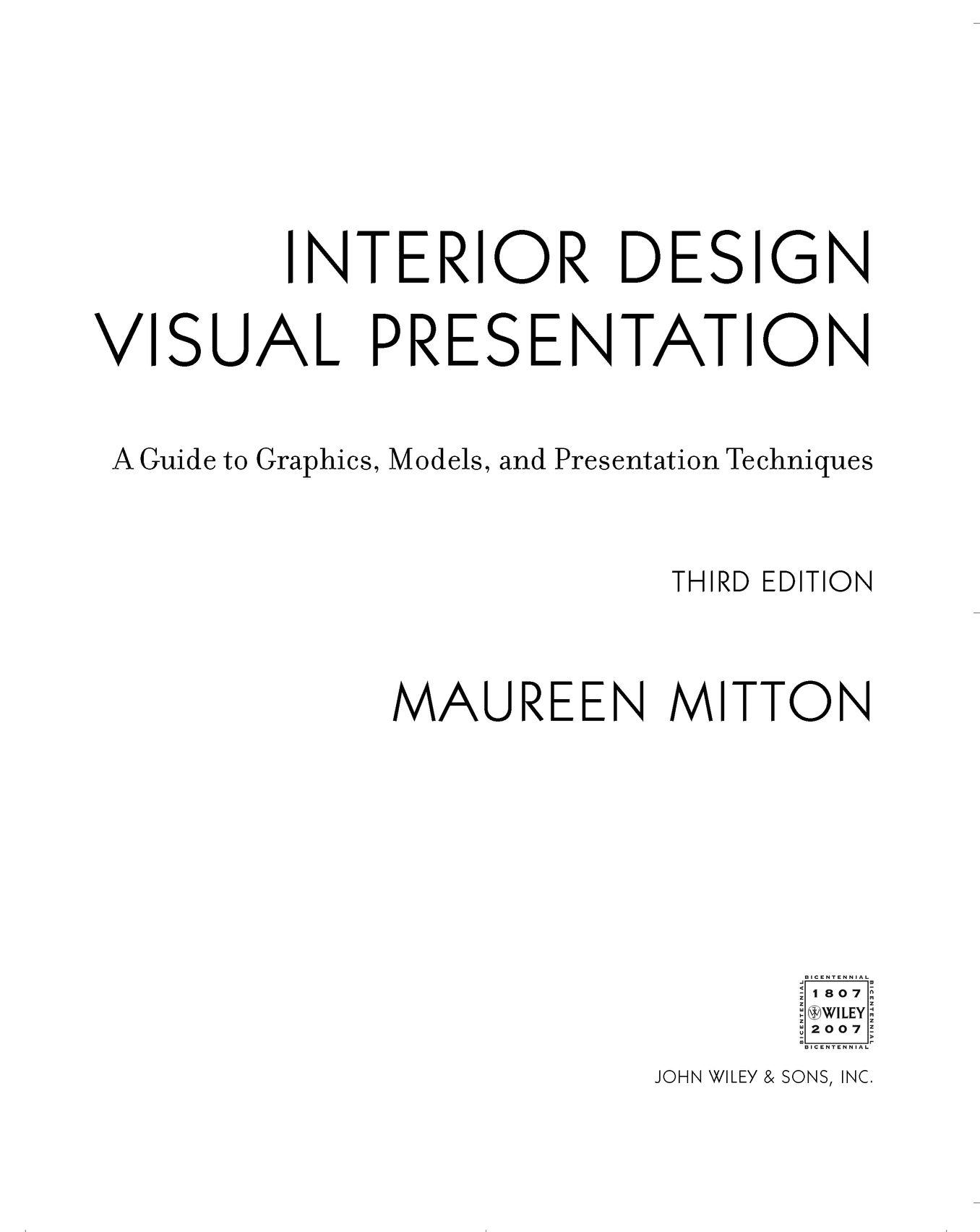 Interior Design Visual Presentation Maureen Mitton 京东阅读 在线阅读