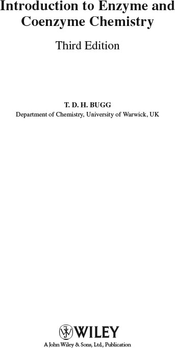 introduction to enzyme and coenzyme chemistry bugg t d h