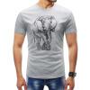 Мужчины 2018 Марка с коротким рукавом Слон Эскиз Pattern T рубашки O-образным вырезом Slim Мужская футболка Tops Мода мужская футболка T рубашки