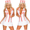yarui / Hot Fashion Ladies Costume Nurse Suit Sexy Lingerie Tank Dress Set V Neck