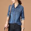 Joy Collection / City Plus CITYPLUS Arts & Crafts Slim Long Sleeve Shirt Bunny Shirt CWCC173360 Deep Blue M