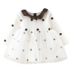 Wisremt / Baby Girls Autumn Dress Casual Long Sleeve Polka Dot Print Mesh Dress Kids Princess Pageant Dresses 0-24M