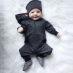 Newborn Hooded Bodysuit Baby Jumpsuit Infant Boys Long Sleeve Jumpsuits Autumn New Arrival Baby Clothing 0-2Y